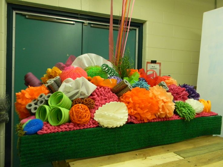 One Of Two Coral Reefs On Wheels Using Various Textures
