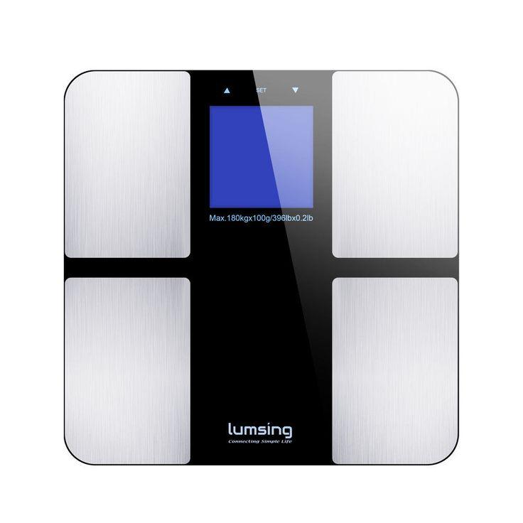 LCD Digital Weight Scale Body Fat Bone Muscle Calorie BMI Analyzer 400lb/180kg