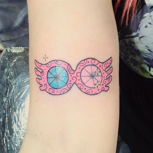 Pin for Later: Harry Potter Tattoos That Would Make J.K. Rowling Proud Luna's Spectrespecs