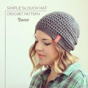 We absolutely love the slouch crochet hat that @persialou made with our Silky Soft yarn! Get the pattern for this hat FREE on our blog! #crochet #hat #DIY