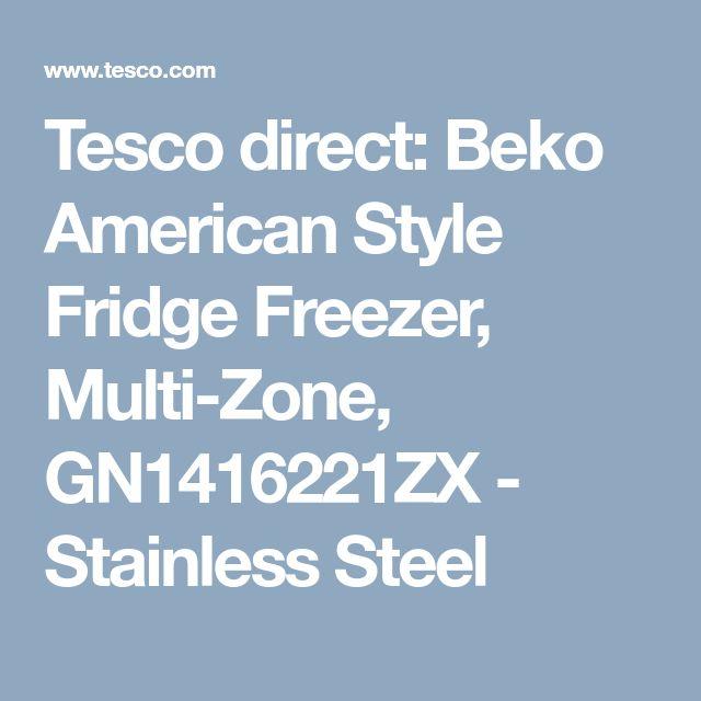 Tesco direct: Beko American Style Fridge Freezer, Multi-Zone, GN1416221ZX - Stainless Steel