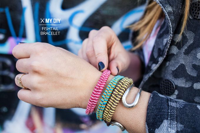 I Spy DIY: MY DIY   Fishtail Braid Bracelet