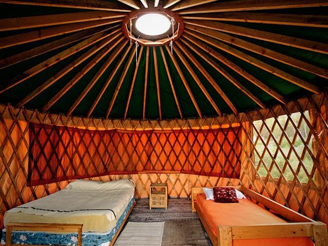 Come stay in our Green Yurt! http://www.cabotshores.com/