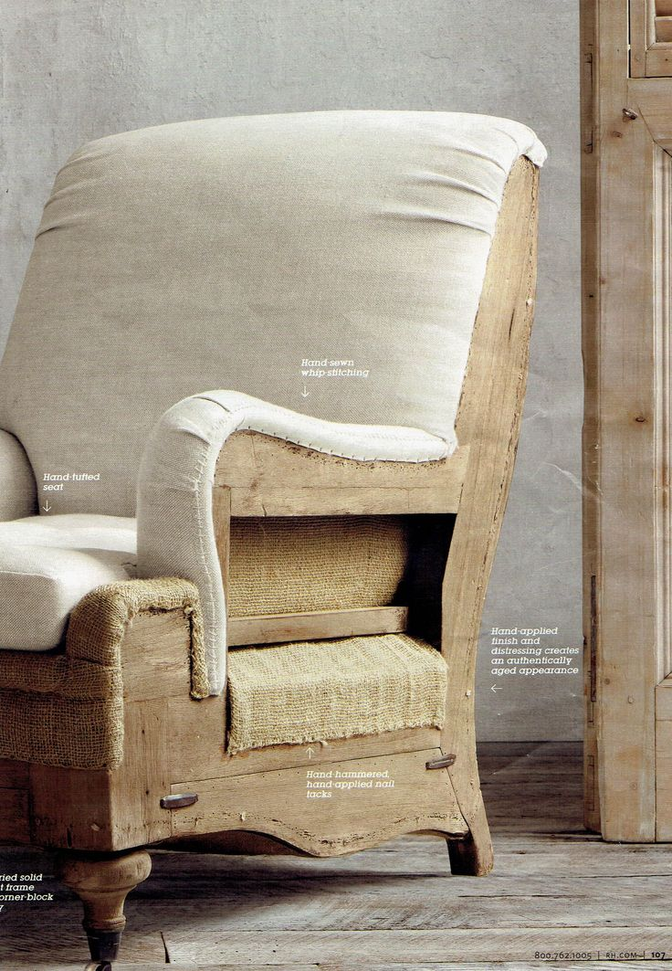 Deconstructed Chair Upholstery Restoration Hardware In