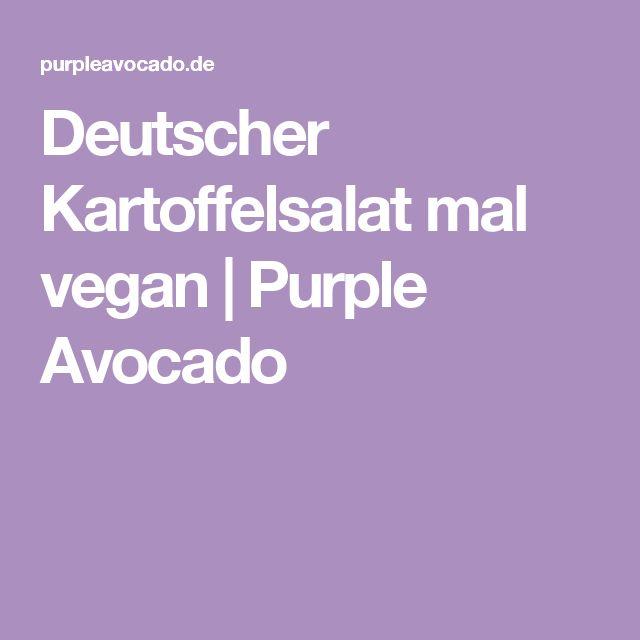 Deutscher Kartoffelsalat mal vegan | Purple Avocado