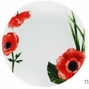 Тарелка мелкая Оселя Красные маки, 19 см