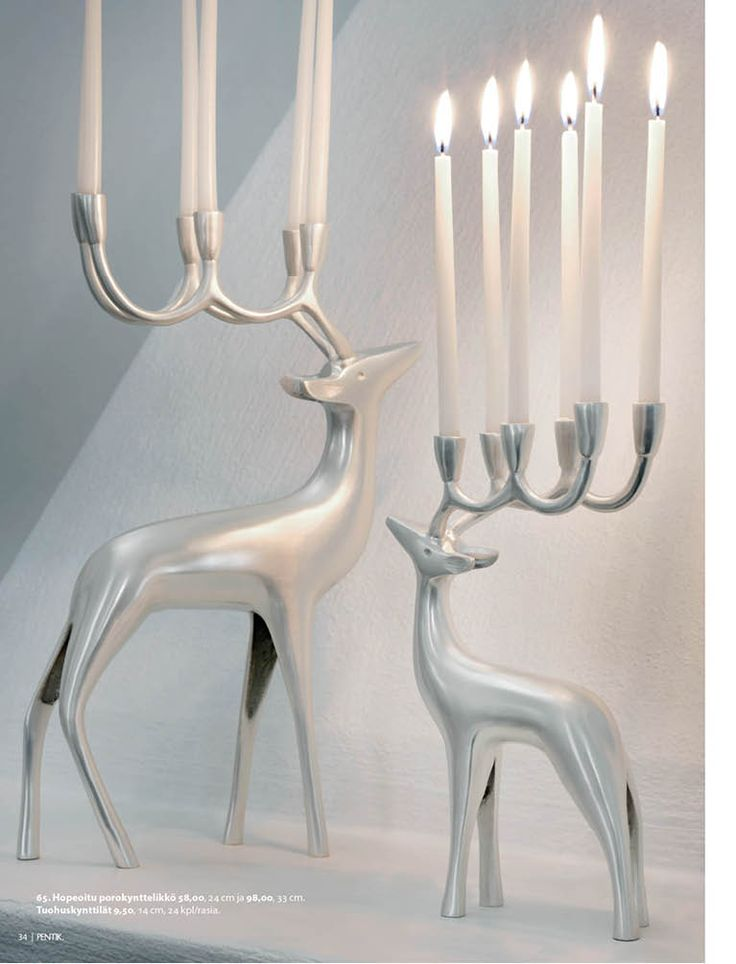 Pewter reindeers from Pentik Christmas collection 2013.