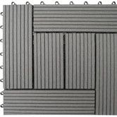 """Found it at Wayfair - Bamboo Composite 12"""" x 12"""" Deck Tiles in Grey"""