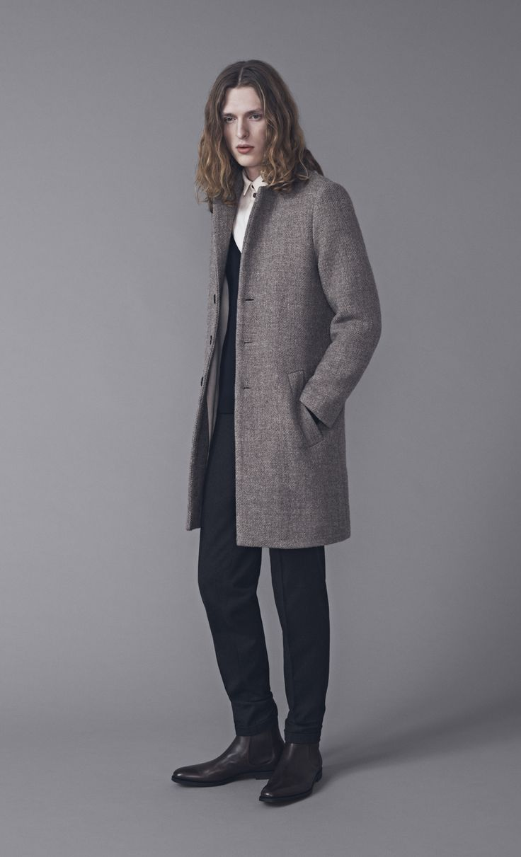 Tennant Coat, Melvin Cardigan, Keith Shirt and Presley Trousers | Samuji Man FW15 Collection
