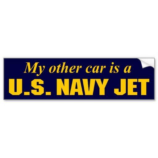 U s navy jet bumper sticker