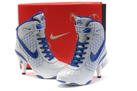 Nike High Heels Air Force 1 White Blue