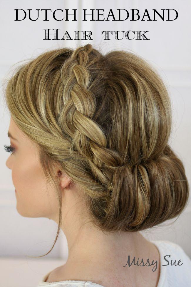 Stunning Braided Hairstyle Tutorials to Master : # 15 : Dutch Headband Hair Tuck
