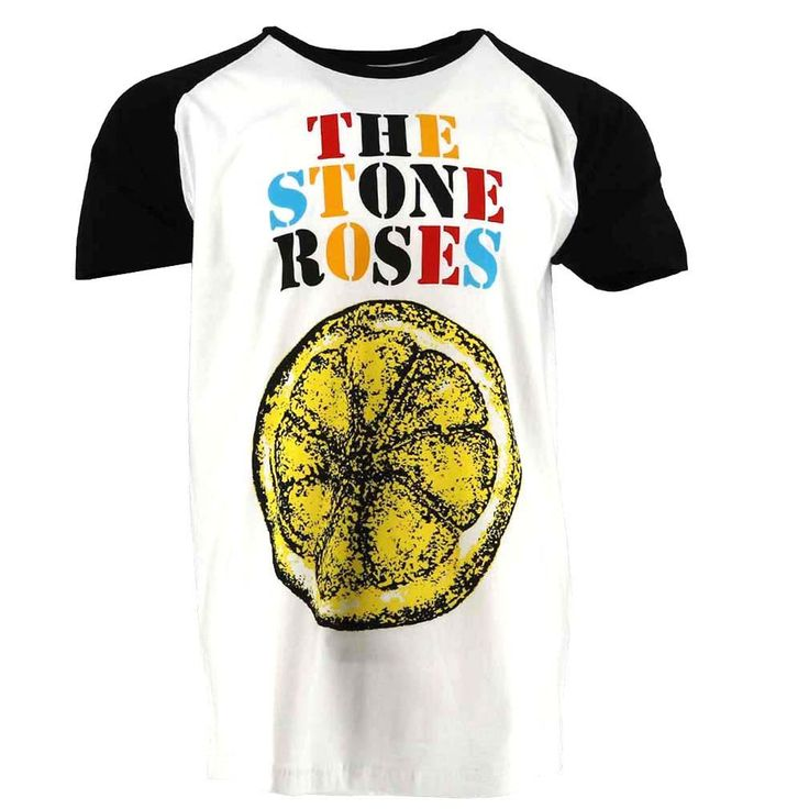The Stone Roses Lemon Multicolour T-shirt White Official Licensed Music. This item is perfect for any The Stone Roses fans wanting to own official merchandise f