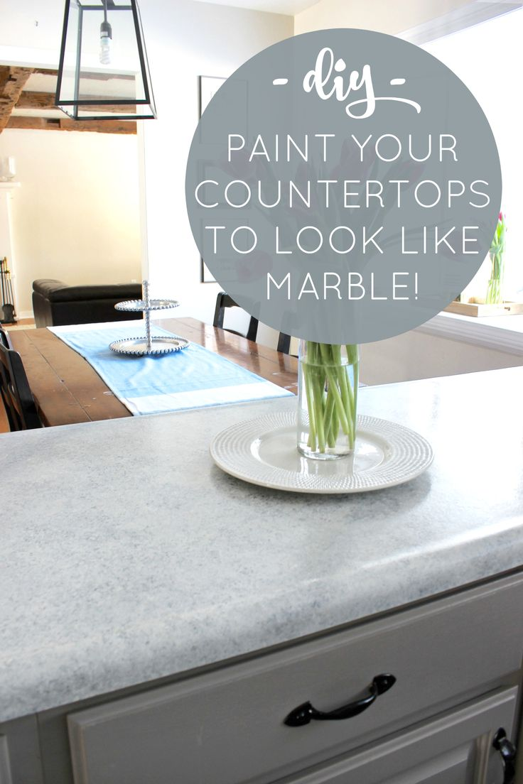 DIY Marble Countertops: From Outdated Laminate To Beautiful U0027Marbleu0027 For  Less Than $100