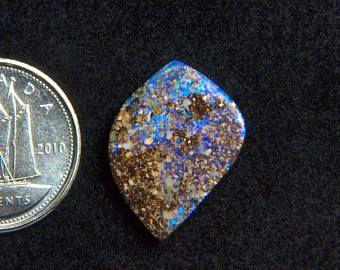 Beautiful 5.24CT Australia polished boulder opal cabochon