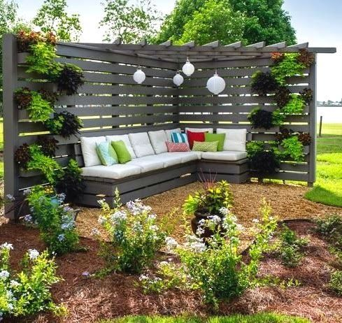 203 best images about garden and patio wind protection for Garden sit out designs