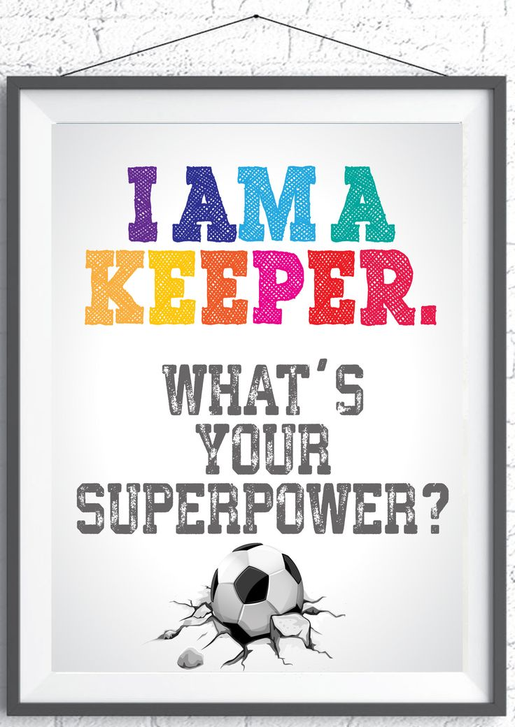 Gift for Soccer Keeper, Instant Download, Printable, instant download wall art,typography print,print illustration, Gift for a soccer player by TIPgifts on Etsy