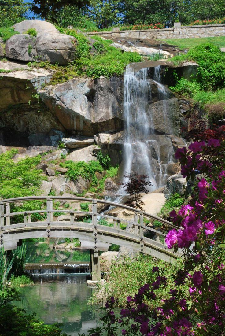 Waterfall At Japanese Garden, Maymont Richmond, Va Credit R Shrestha