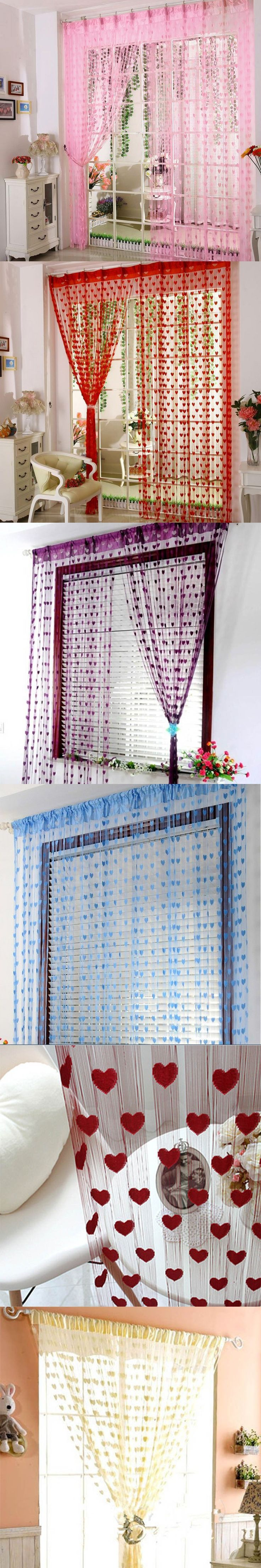 String curtain ideas - New Heart String Curtain Window Door Balcony Home Decoration Children Decorative Curtain For Living Room Bedroom Kitchen