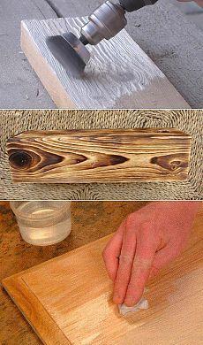 Браширование древесины своими руками: видео мастер-класс на примере доски и…