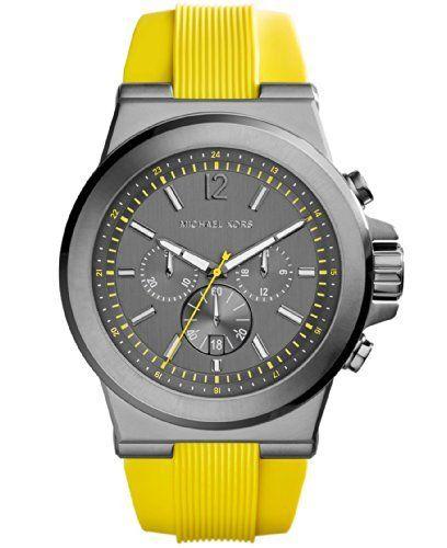best - Michael Kors Men's Chronograph Dylan Yellow Silicone Strap Watch 48mm MK8356 Michael Kors http://www.amazon.com/dp/B00IP58XEW/ref=cm_sw_r_pi_dp_dUPNtb1FN14VYHTX