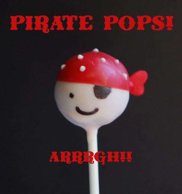 Pirate Cake Pops! via www.wineandglue.com