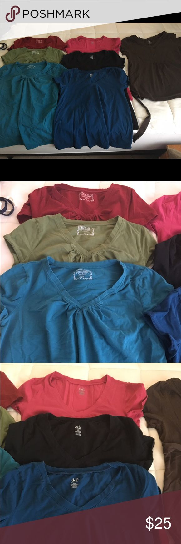 Maternity TShirt Lot VGUC+ Maternity short sleeve TShirts in various colors. Sizes S and M. From a smoke free home. Tops Tees - Short Sleeve