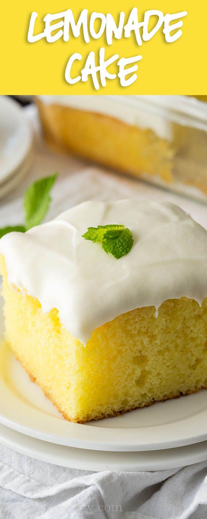 Super Easy Lemonade Cake Recipe via @iwashyoudry