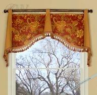 Simple & elegant valance window and curtain