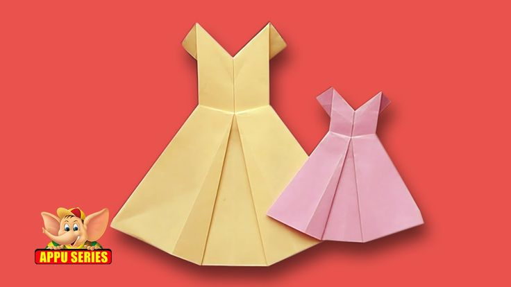 Origami - How to make a Pretty Dress