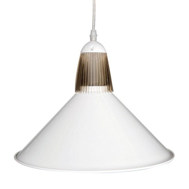 Brilliant 20W DRAKE LED Industrial Metal Pendant - White