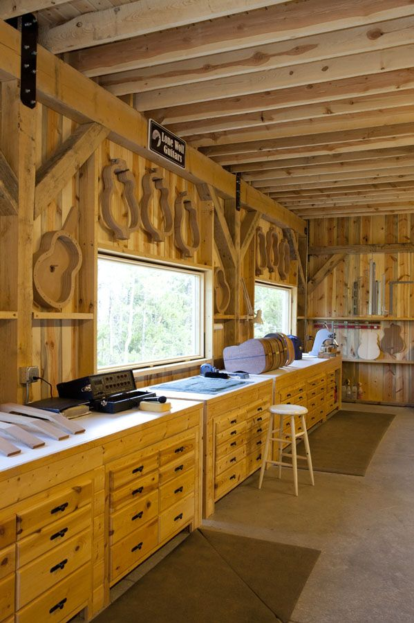 Wood Shop - Made from a Custom Wood Barn    www.sandcreekpostandbeam.com  https://www.facebook.com/pages/Sand-Creek-Post-Beam-Traditional-Post-Beam-Barn-Kits/66631959179