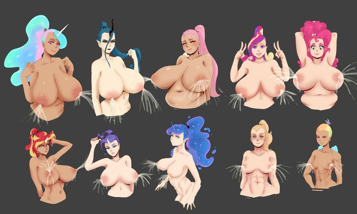 e621 2016 alternate_species applejack_(mlp) areola armpits big_breasts blue_feathers breast_size_difference breasts changeling equestria_girls equine erect_nipples feathered_wings feathers female fluttershy_(mlp) friendship_is_magic hi_res horn huge_breasts human humanized humanoid humanoidized lactating mammal milk my_little_pony nipples nude pegasus pinkie_pie_(mlp) princess_cadance_(mlp) princess_celestia_(mlp) princess_luna_(mlp) queen_chrysalis_(mlp) rainbow_dash_(mlp) rarity_(mlp)…