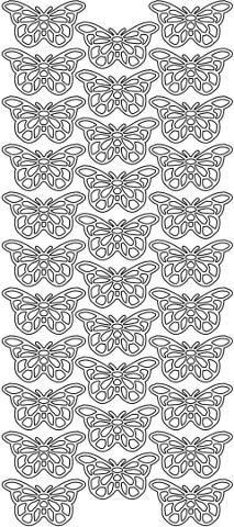 Ääriviivatarra pienet perhoset Sinelli - Askarteluverkkokauppa - Askartelu - Askartelutarvikkeet