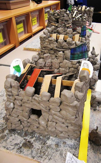 Clay Castles by maureencrosbie Would be fun to do some outside using mud bricks...