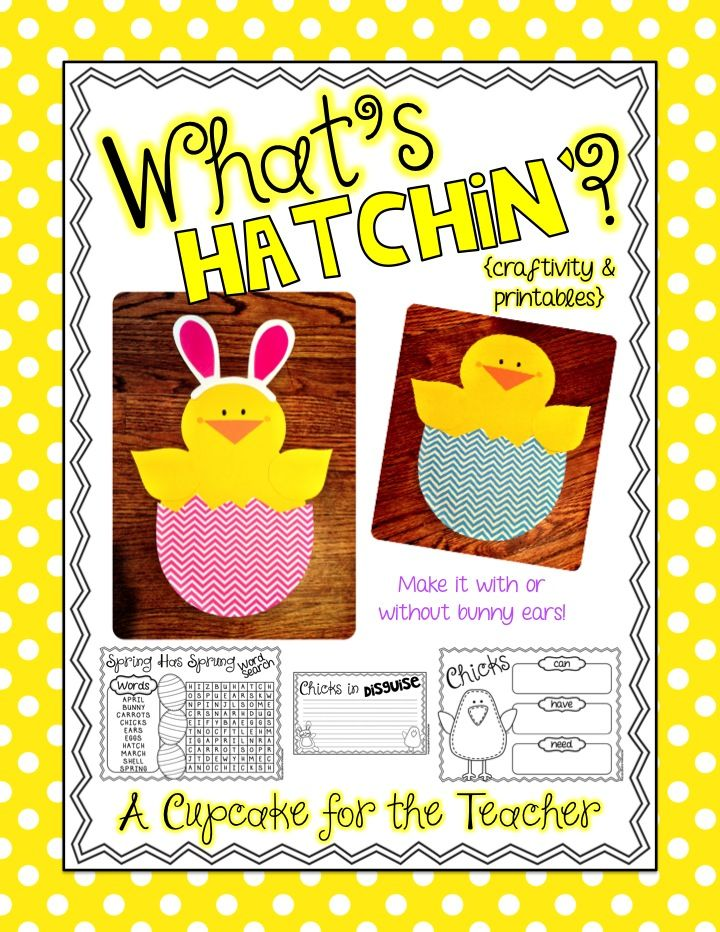 $ What's Hatchin Craftivity & Printables: K-2nd