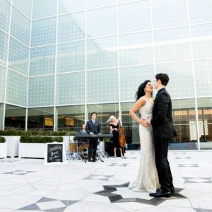 Brent Miller Live Modern romantic wedding inspiration at the Aga Khan Museum - Whim Event Planning & Design - Toronto Wedding Planners Greenery, gold, and marble wedding inspiration