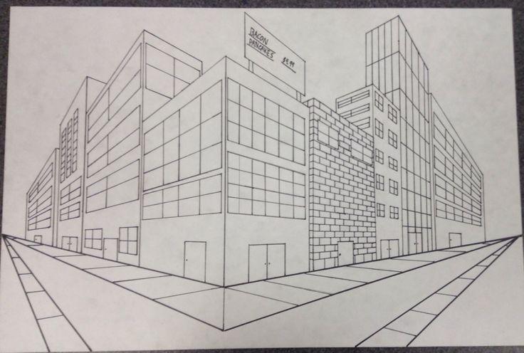 Art fundamentals high school 2-point perspective city