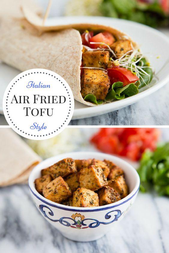 Air Fried Tofu Italian Style Air Fryer Pinterest Tofu Vegan
