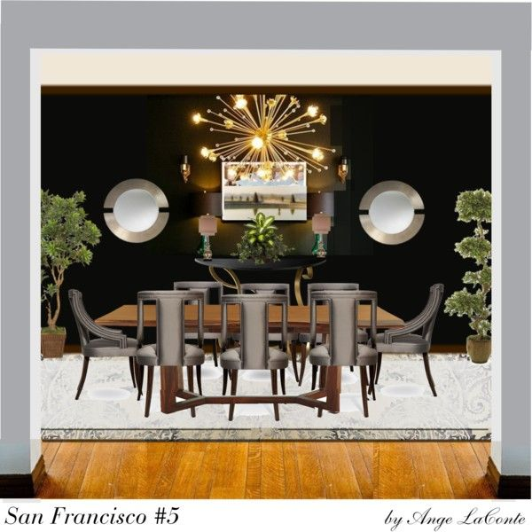 san francisco 5 by angelaconte on polyvore featuring interior interiors interior design