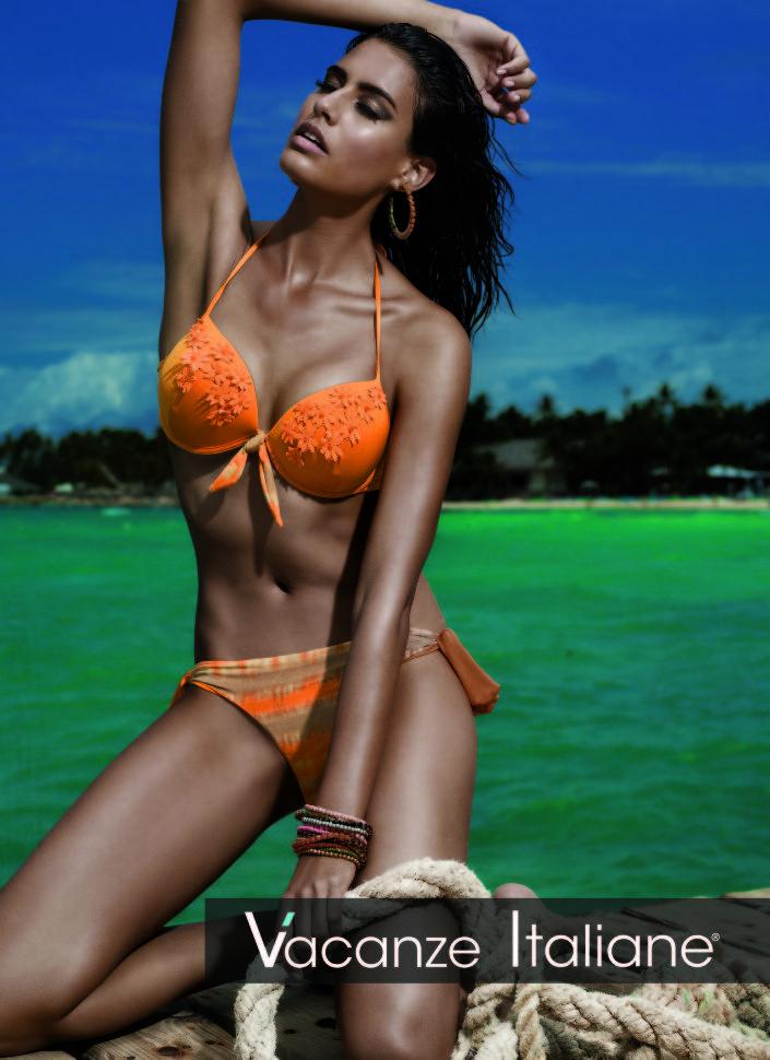 купить заказать Оранжевый купальник Vacanze Italiane