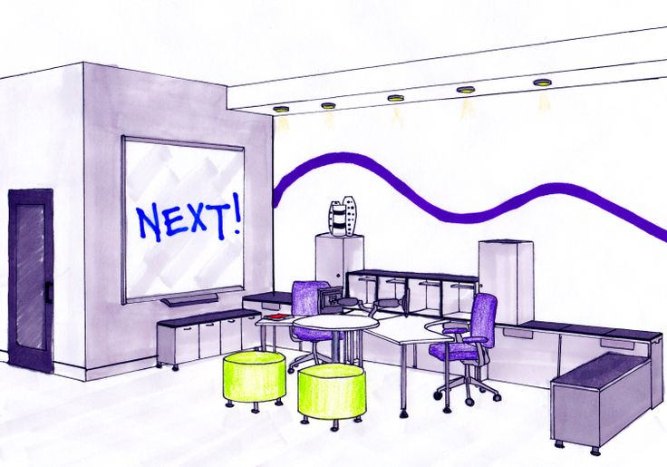 School Project: NEXT office design perspective. Using Steelcase furniture.