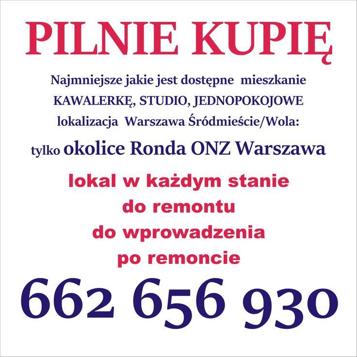 Mini Mieszkanie poszukiwane okolica: Rondo ONZ (Wola, Śródmieście)