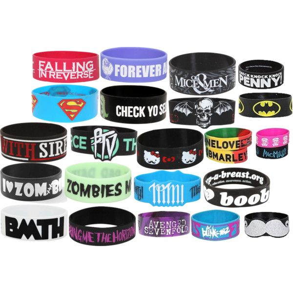 Rubber Bracelets by kkm98 on Polyvore