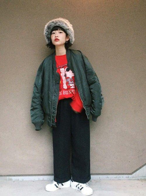 彼氏がMA-1買いに行くっていうから なんか着たくなって 高橋愛ちゃんがスウェットで可愛いすぎるコー