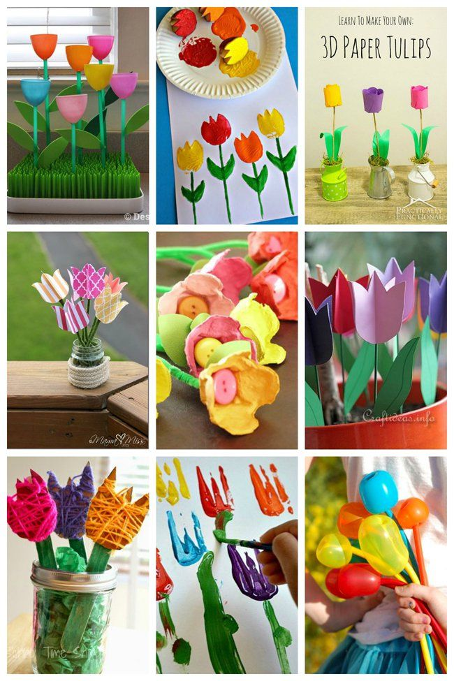 25 tulip crafts for kids - Spring Pictures For Kids