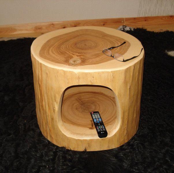 Baumstamm Tisch Ausgehhlt Von Holzdesign Bohse Auf DaWanda