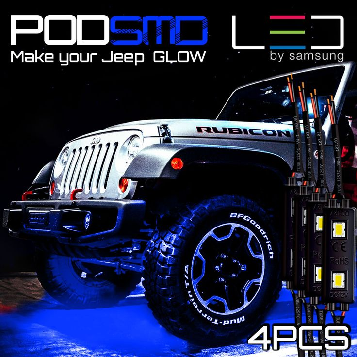 GENSSI LED pods, Modules that are waterproof, durable, compact, expandable and most important, SUPER BRIGHT! Use as rock lights in your off road vehicle.