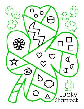 Saint Patrick's Day Lucky Patchwork Shamrock Shapes Color Puzzle Bulletin Board. Four Leaf Clover. Fine Motor Skills. Life Skills. Fun Stuff. 5 pages