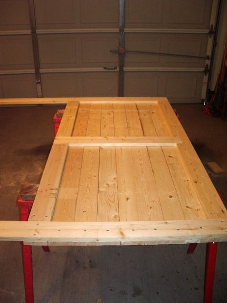 DIY wooden headboard